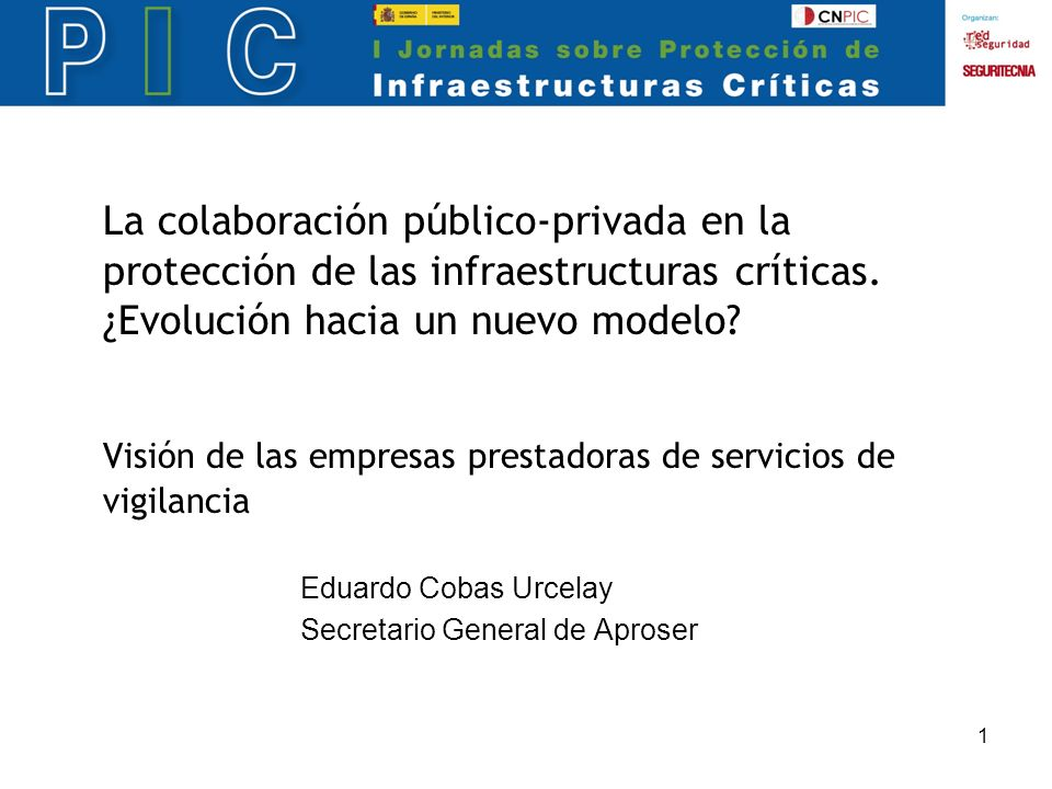 1 La colaboración público-privada en la protección de las infraestructuras críticas.