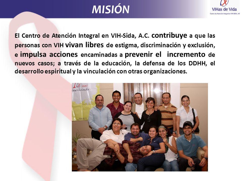El Centro de Atención Integral en VIH-Sida, A.C. contribuye a que las personas con VIH vivan libres de estigma, discriminación y exclusión, e impulsa