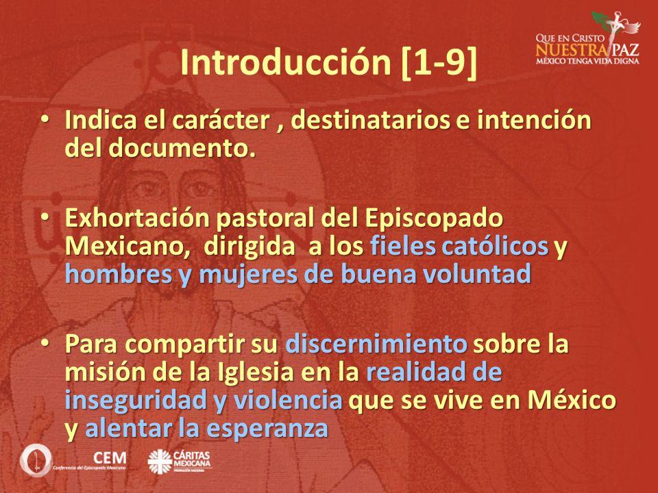 Introducción [1-9] Indica el carácter, destinatarios e intención del documento. Indica el carácter, destinatarios e intención del documento. Exhortaci