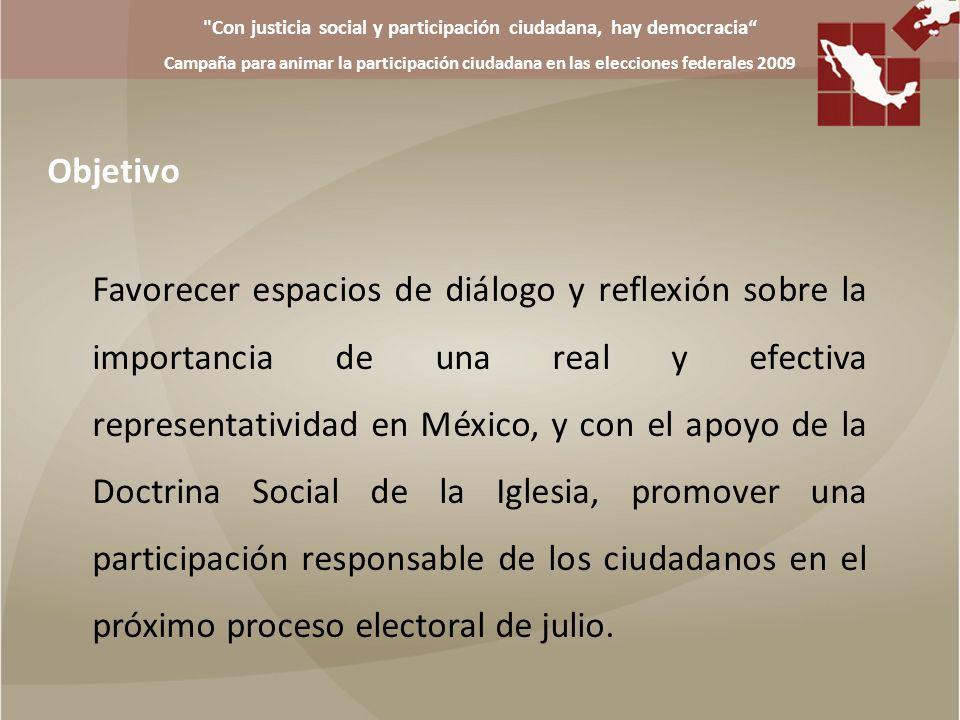Con justicia social y participación ciudadana, hay democracia Campaña para animar la participación ciudadana en las elecciones federales 2009 o Video o DVD o Radio o Spots de radio