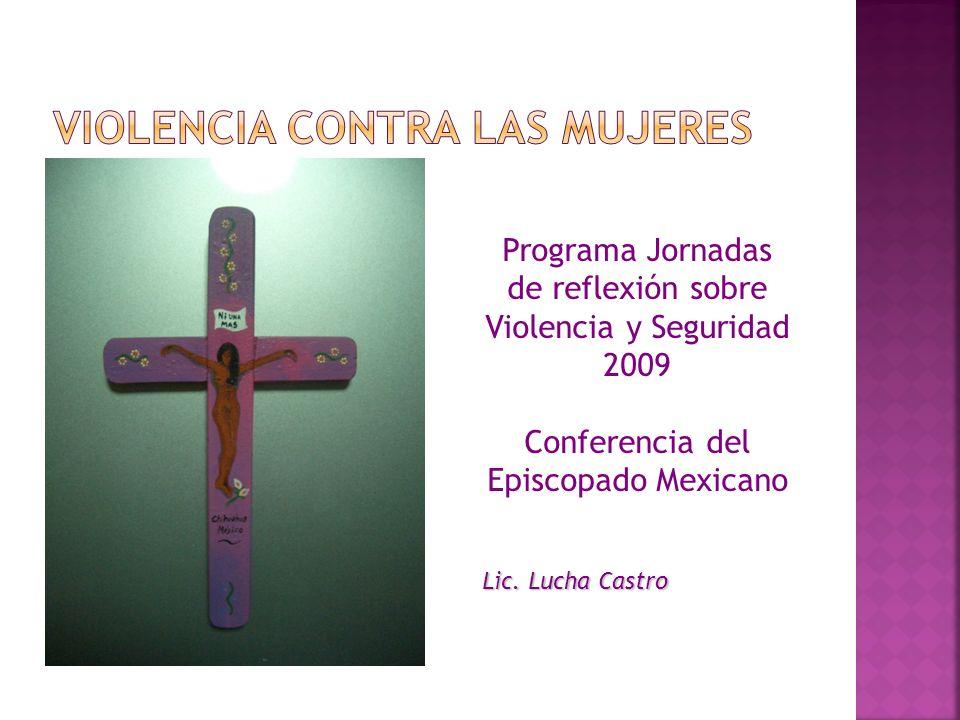 Programa Jornadas de reflexión sobre Violencia y Seguridad 2009 Conferencia del Episcopado Mexicano Lic. Lucha Castro