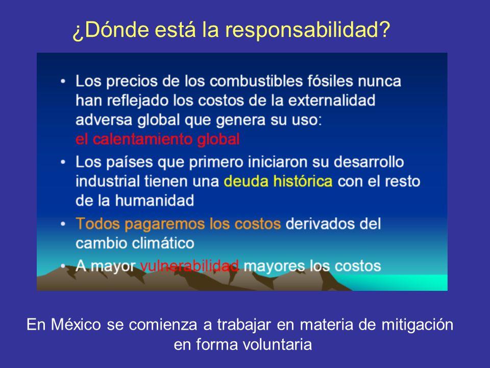 ¿Dónde está la responsabilidad? En México se comienza a trabajar en materia de mitigación en forma voluntaria