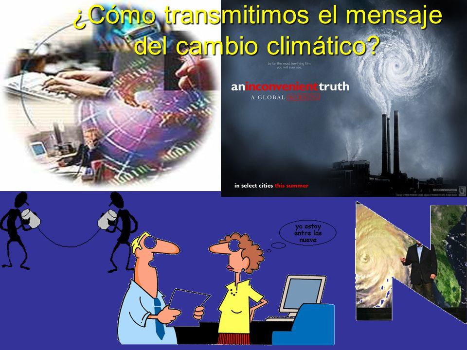¿Cómo transmitimos el mensaje del cambio climático?