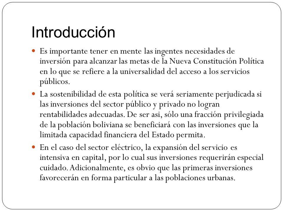 Introducción Es importante tener en mente las ingentes necesidades de inversión para alcanzar las metas de la Nueva Constitución Política en lo que se