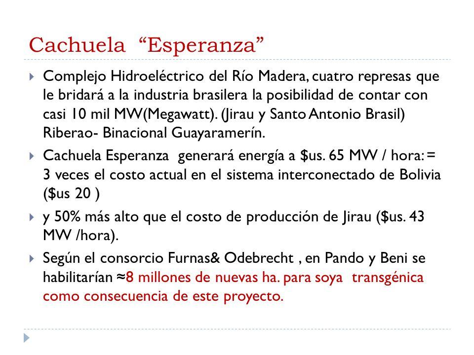 Cachuela Esperanza Complejo Hidroeléctrico del Río Madera, cuatro represas que le bridará a la industria brasilera la posibilidad de contar con casi 1