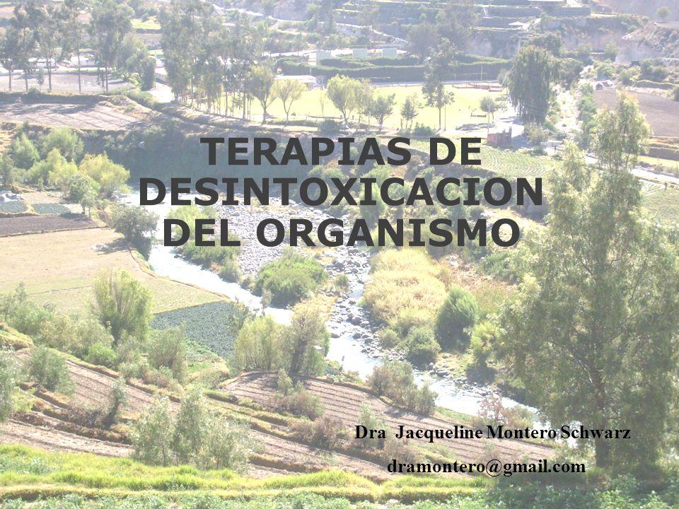 TERAPIAS DE DESINTOXICACION DEL ORGANISMO Dra Jacqueline Montero Schwarz dramontero@gmail.com