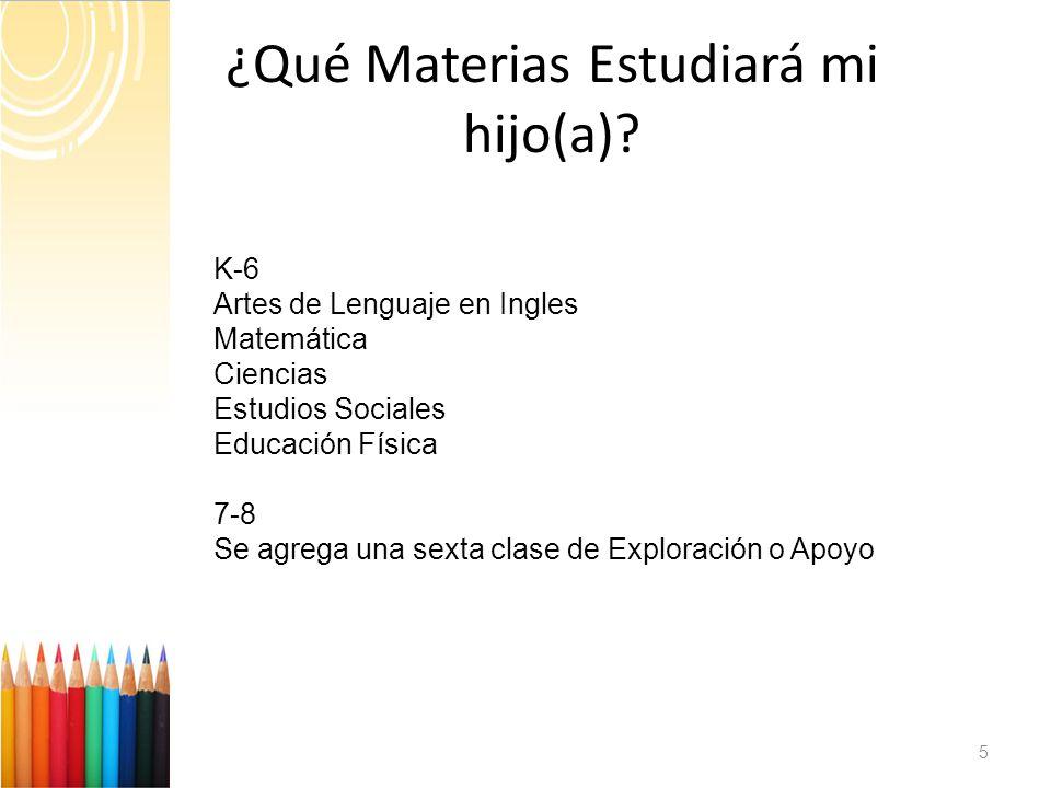 ¿Qué Materias Estudiará mi hijo(a).