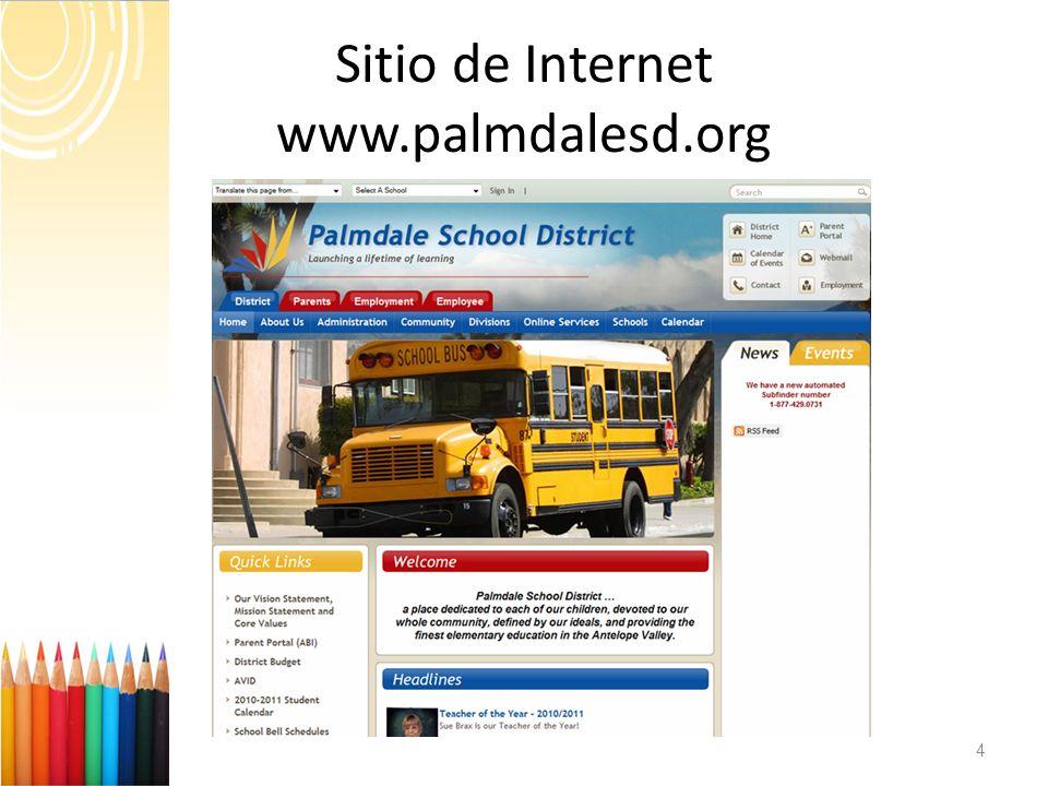 4 Sitio de Internet www.palmdalesd.org
