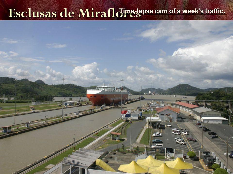 Esclusas de Miraflores Time-lapse cam of a weeks traffic. Time-lapse cam of a weeks traffic.
