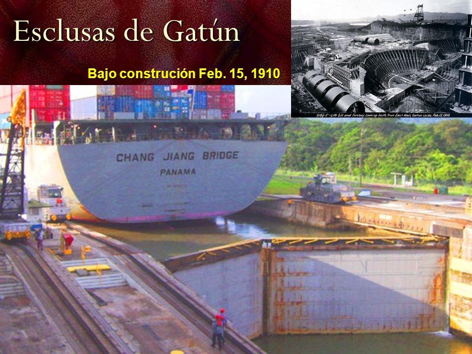 Esclusas de Gatún Bajo construción Feb. 15, 1910