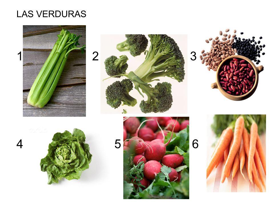 LAS VERDURAS 1 2 3 4 5 6