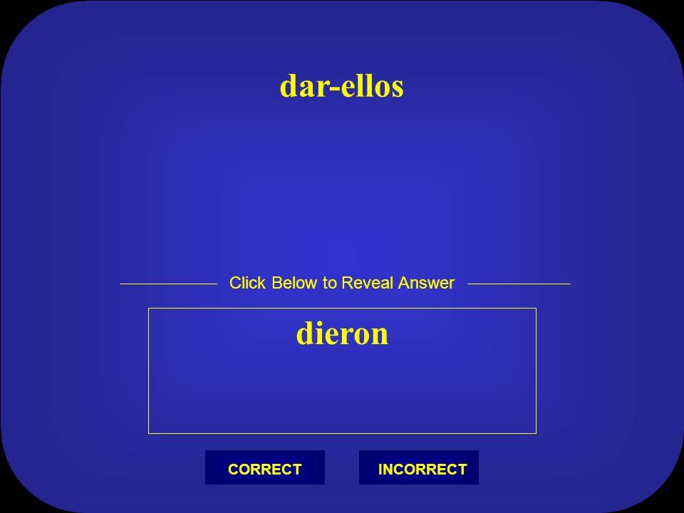 Correr - tú corriste Click Below to Reveal Answer INCORRECTCORRECT