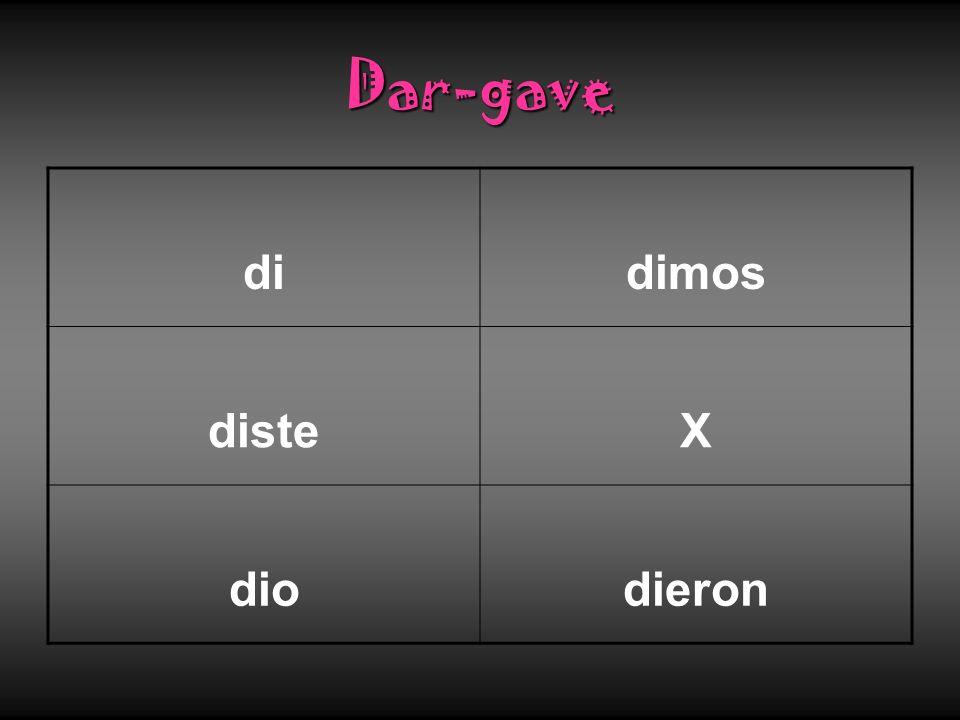 Dar-gave didimos disteX diodieron