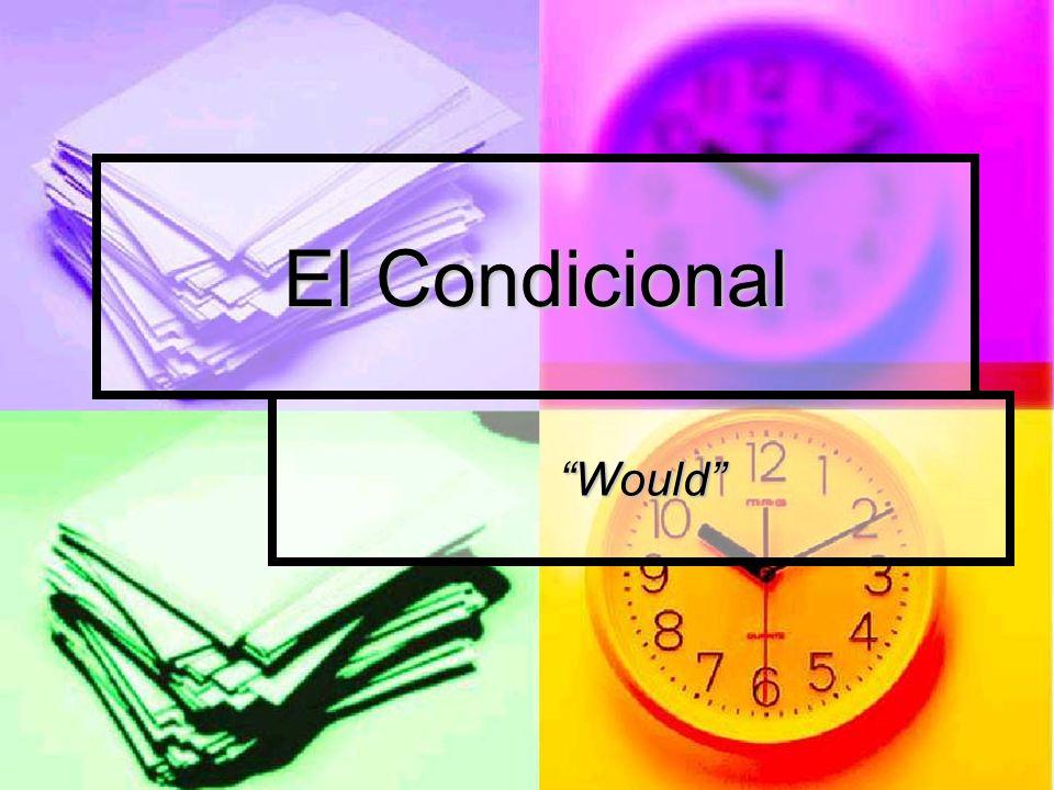 Es un tiempo que significa would en inglés Es un tiempo que significa would en inglés Usa las mismas reglas como el Futuro.