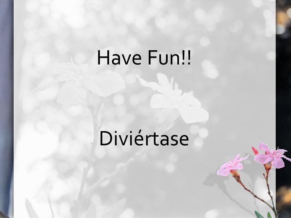 Have Fun!! Diviértase