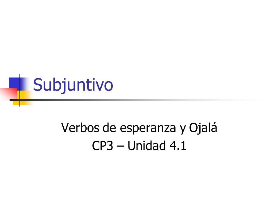 1.Empieza con la forma YO del presente 2.Quita la o 3.Usa las terminaciones opuestas 4.-AR:-e-emos -es -e-en 5.-ER / -IR:-a-amos -as -a-an ¿Cómo se forma el subjuntivo.