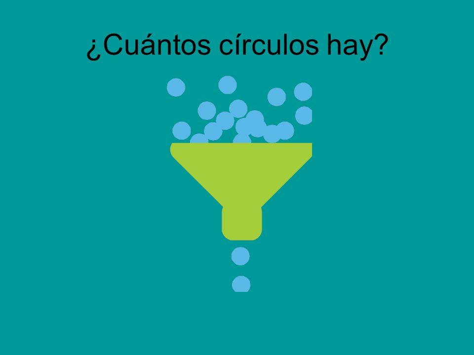 ¿Cuántos círculos hay?