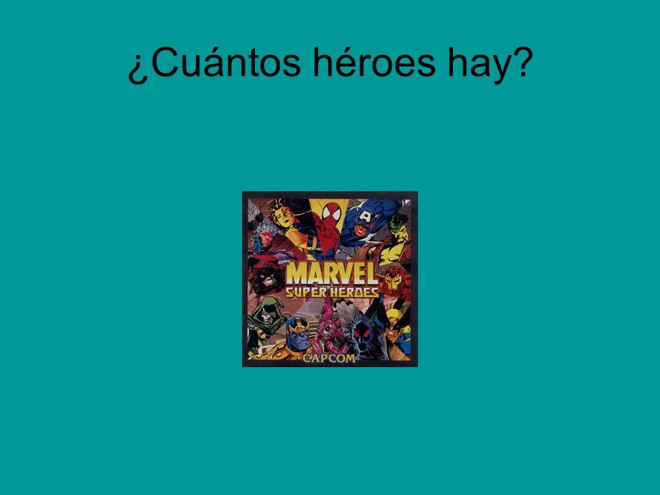 ¿Cuántos héroes hay?