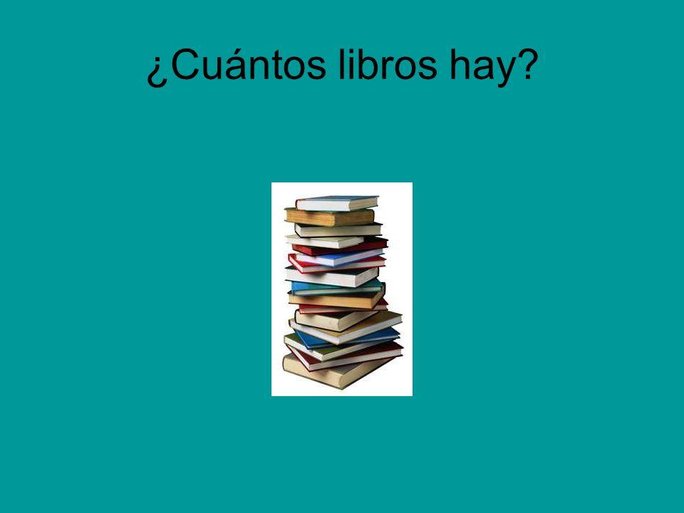 ¿Cuántos libros hay?