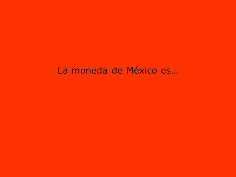 La moneda de México es…