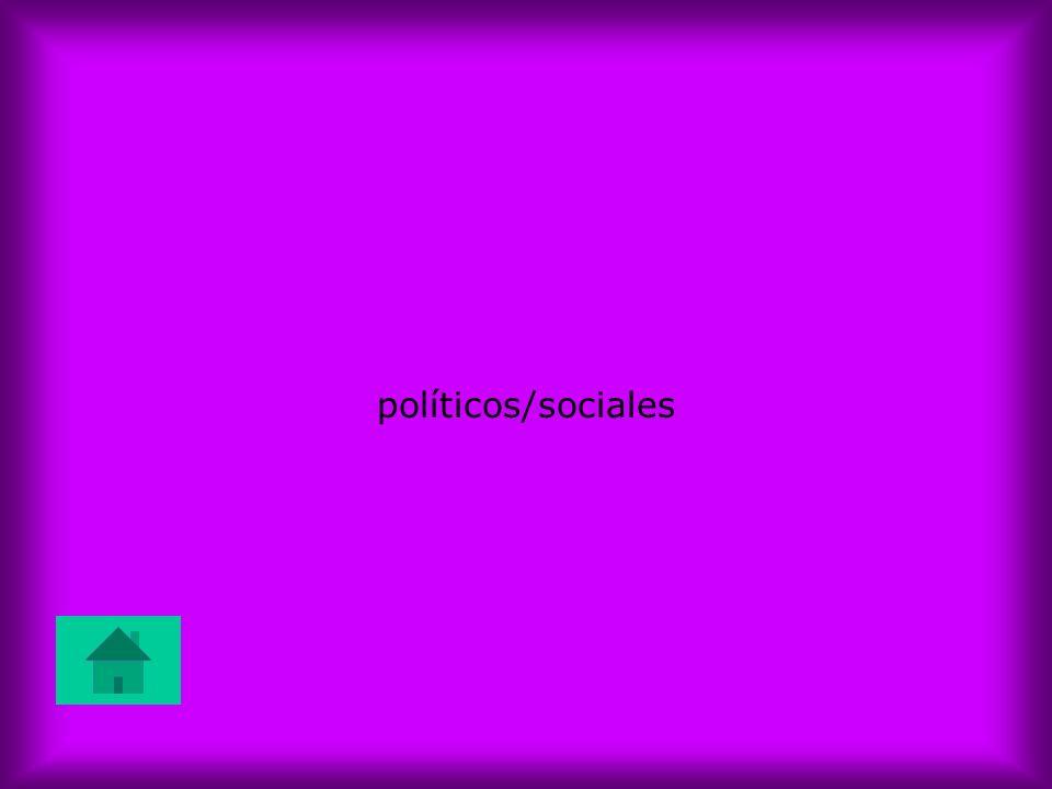 políticos/sociales