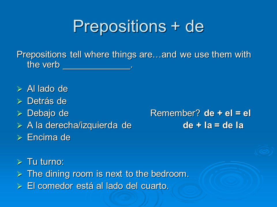 Repaso de los adjetivos: Expressing Emotion Forma de estar + Contento/a Triste*Deprimido/aAburrido/aAlegre* *does not change to masc.