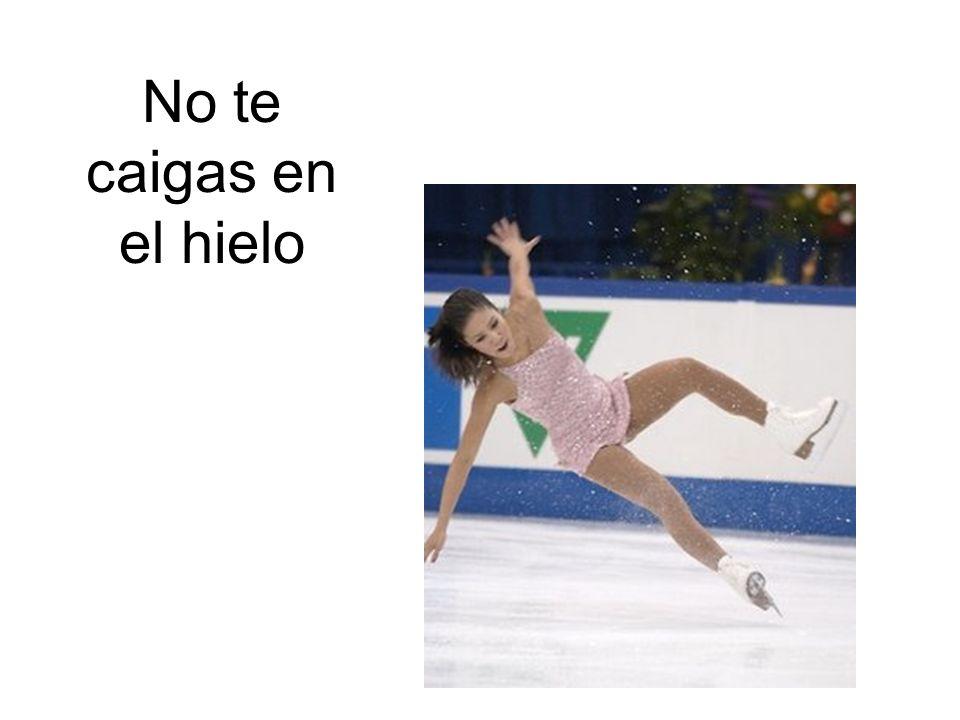 No te caigas en el hielo