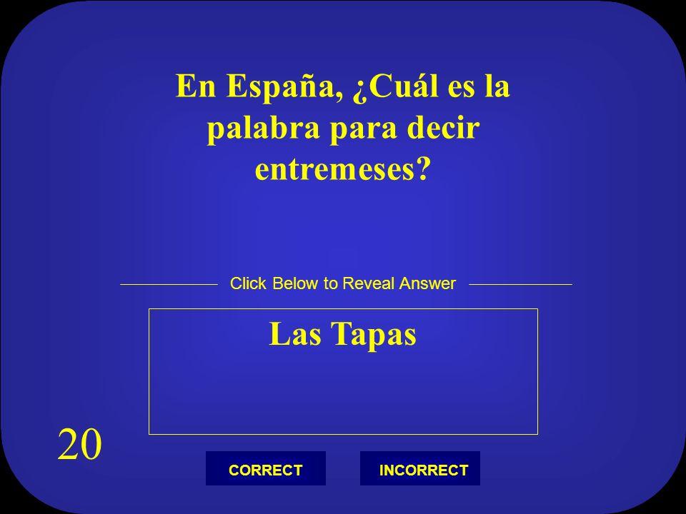 ¿Cómo se llama la calle forrada de árboles de Barcelona? La Rambla Click Below to Reveal Answer INCORRECTCORRECT 10