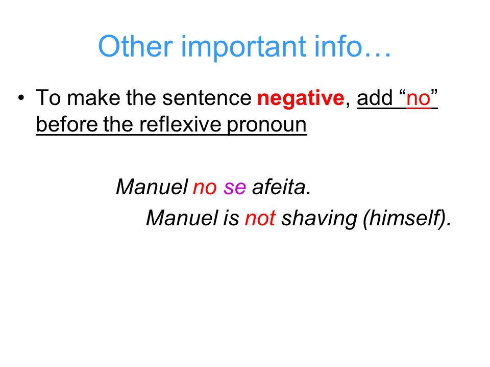 Remember the verb endings.