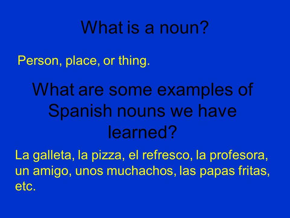 What does an adjective do.Discuss with an amigo. Describes a noun.