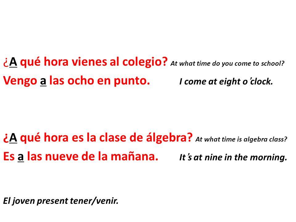 The verb venir means to come.