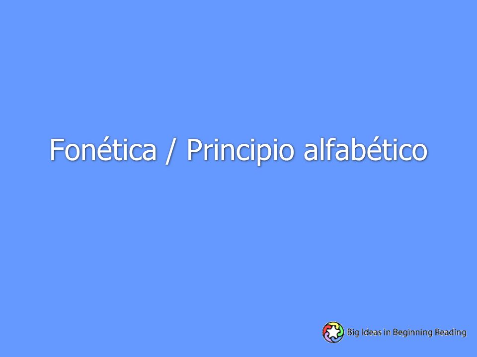 Fonética / Principio alfabético
