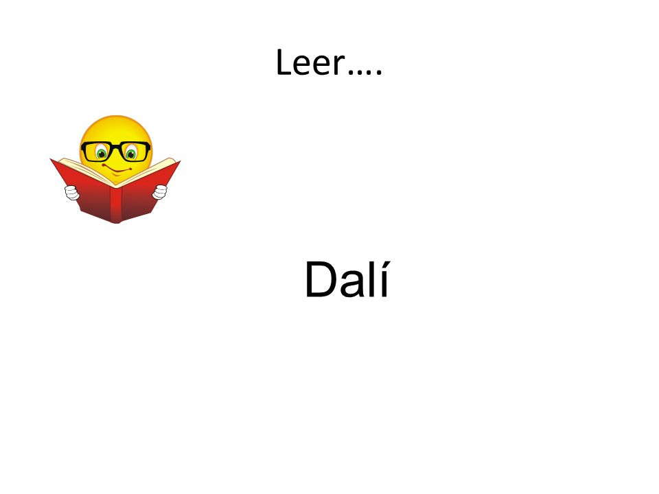 Leer…. Dalí