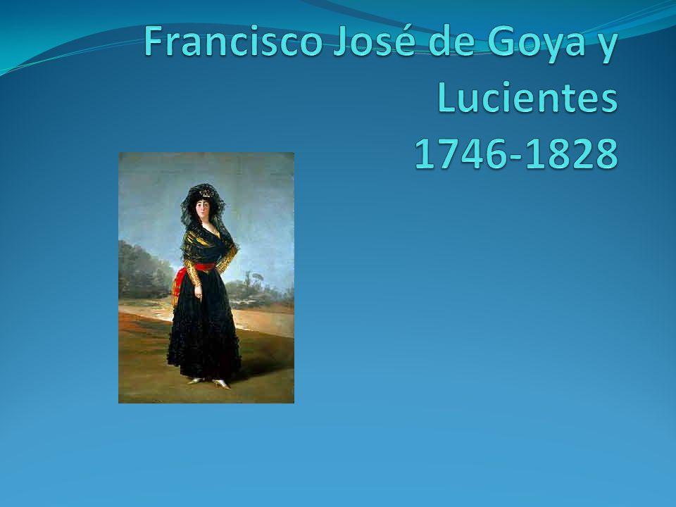 Goya Pintor para el Rey/la corte (de España) (muchos retratos) -Los pintó exactamente como eran (pero nunca se enojaron con él).