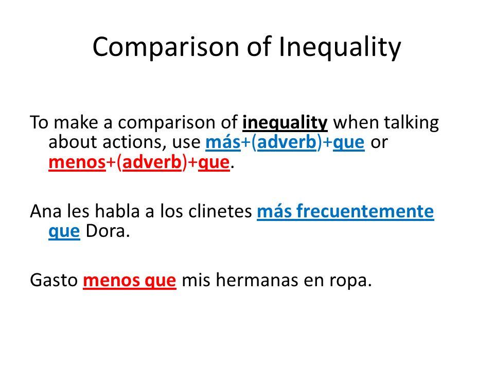 Gramática 9.1 Comparing Quantities; adjectives as nouns El 14/15 de mayo