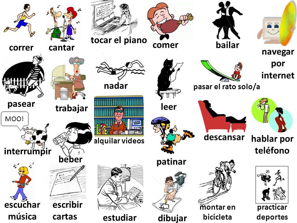 1.Nosotros ___________(jugar) en el parque.2.Usted ____________(ir) al entrenamiento.