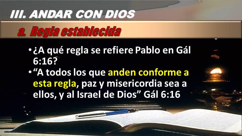 ¿A qué regla se refiere Pablo en Gál 6:16.