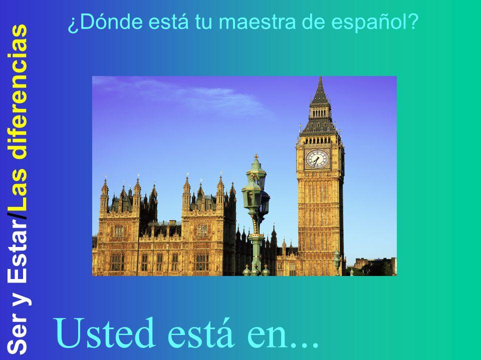 Ser y Estar/Las diferencias Ser (4)Say where/when an event takes place El concierto es en el estadio..