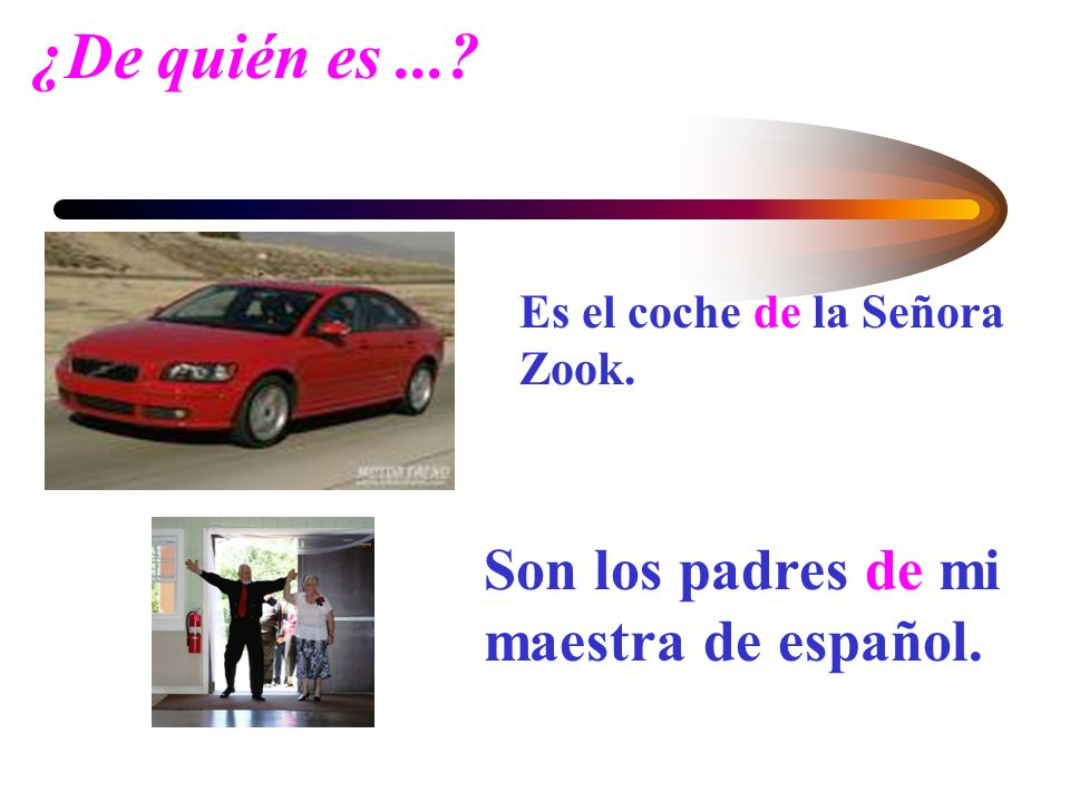 En inglés....In English you show possession by adding s to the noun that refers to the possessor.