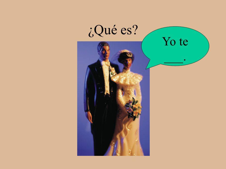 amo Yo ___ a Dios.