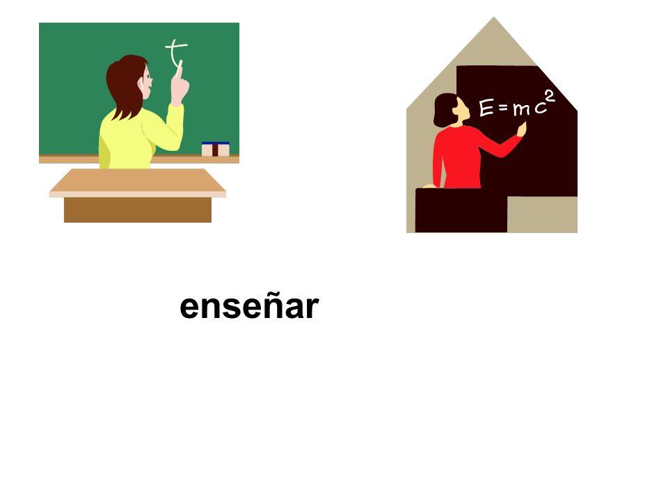 enseñar