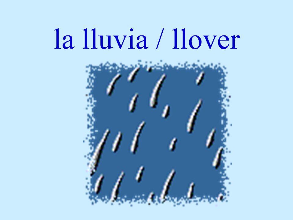 la lluvia / llover
