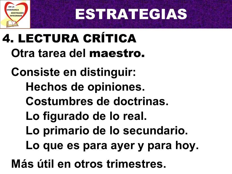 ESTRATEGIAS Una tarea para presentar a clases de jóvenes y adultos.