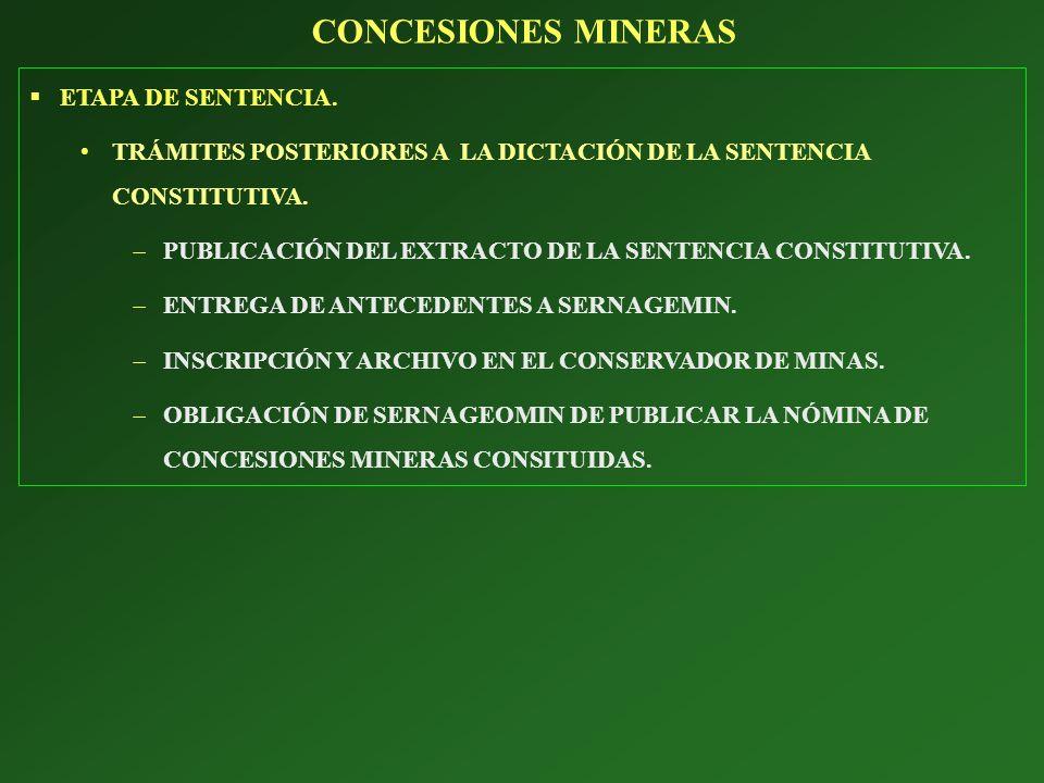 ETAPA DE SENTENCIA. TRÁMITES POSTERIORES A LA DICTACIÓN DE LA SENTENCIA CONSTITUTIVA. PUBLICACIÓN DEL EXTRACTO DE LA SENTENCIA CONSTITUTIVA. ENTREGA D