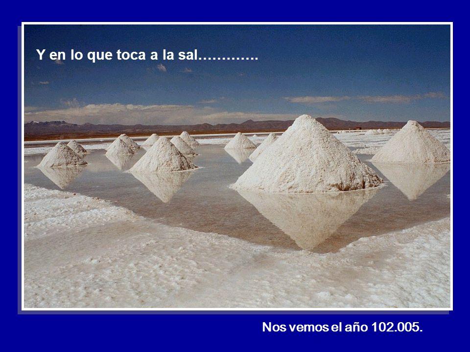 Nos vemos el año 102.005. Y en lo que toca a la sal………….