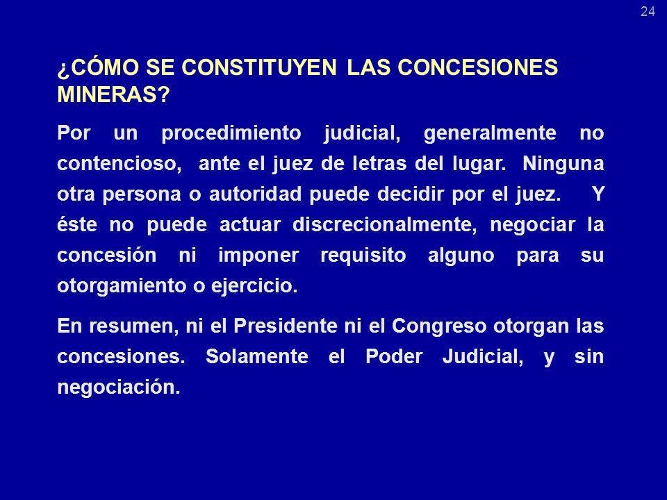 ¿CÓMO SE CONSTITUYEN LAS CONCESIONES MINERAS.