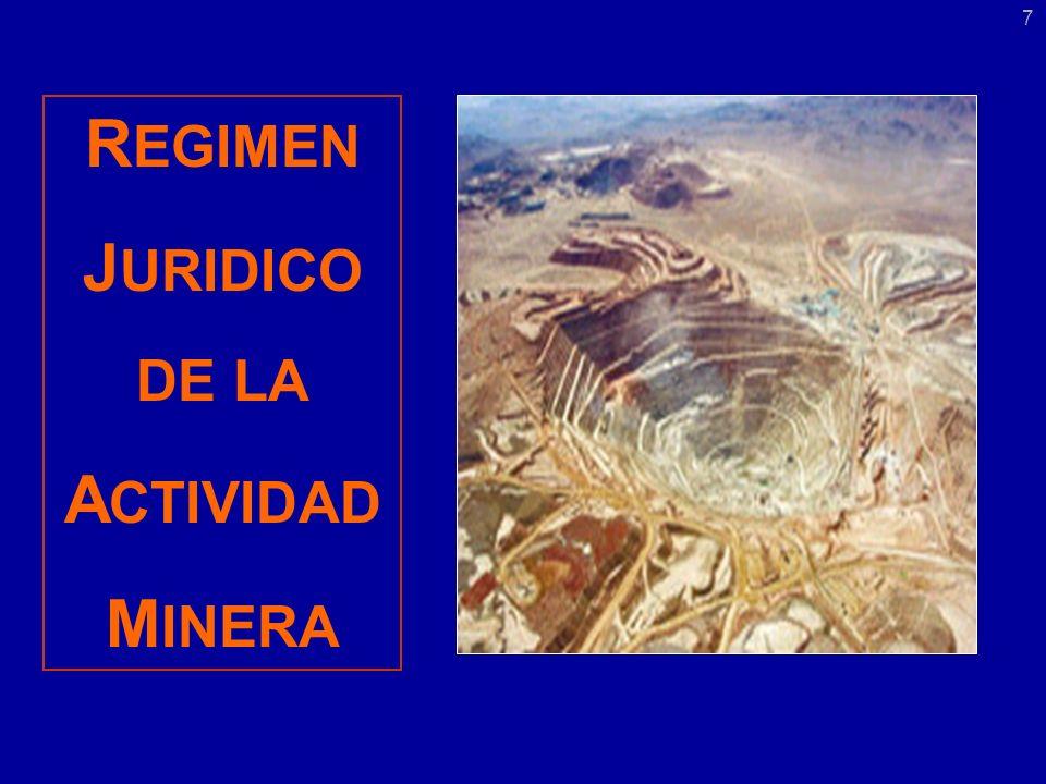 R EGIMEN J URIDICO DE LA A CTIVIDAD M INERA 7