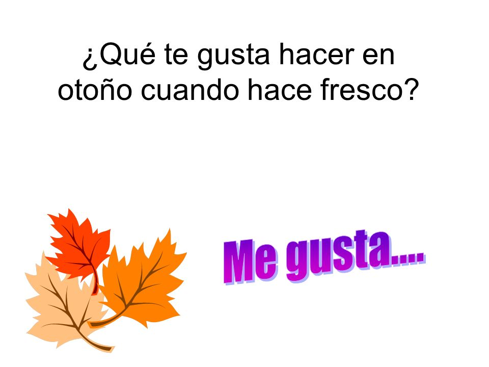 ¿Qué te gusta hacer en otoño cuando hace fresco?