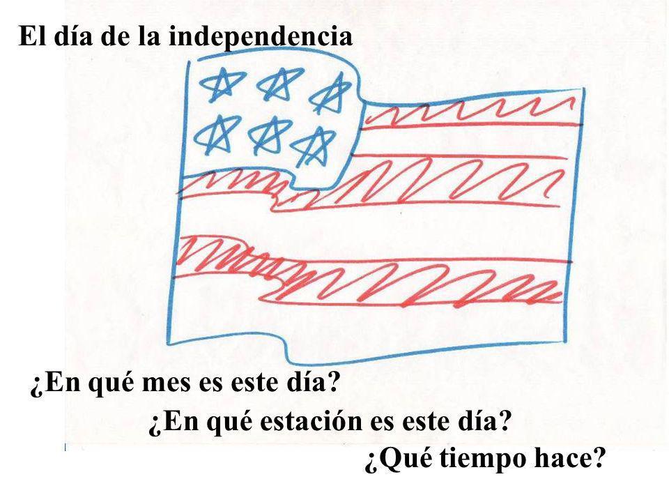El día de la independencia ¿En qué mes es este día? ¿En qué estación es este día? ¿Qué tiempo hace?