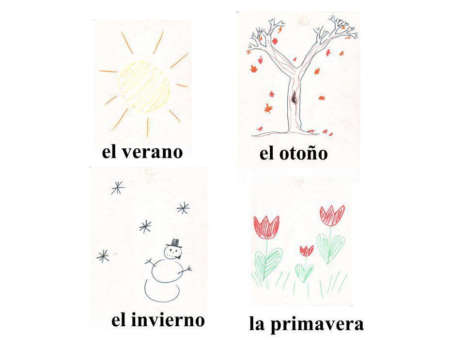 el verano el otoño el invierno la primavera